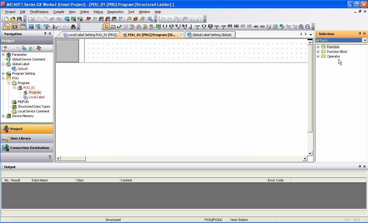 Phần mềm lập trình GX Work 2